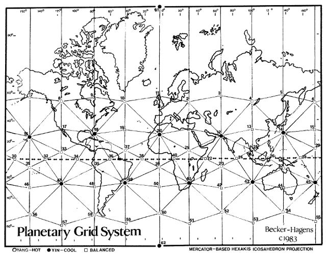 Ley Lines Cancer And Earth Grid - Us-ley-lines-map